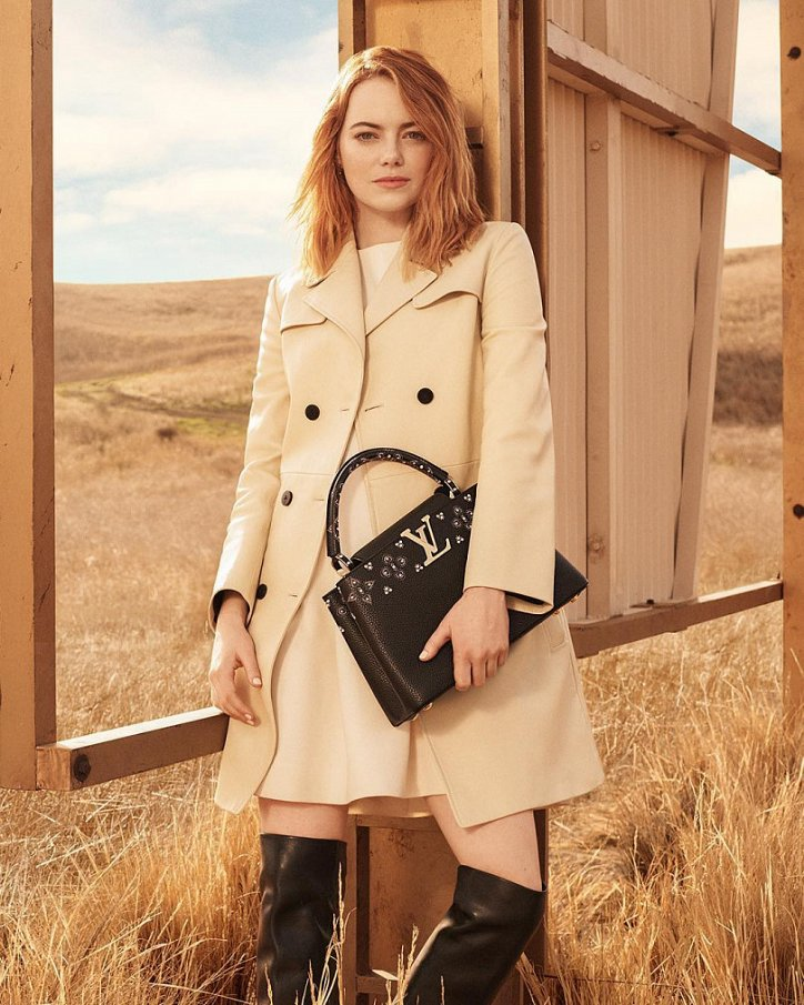 Эмма Стоун в рекламе Louis Vuitton 2018 фото №3